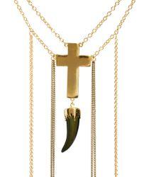 ASOS - Metallic Cross Horn Body Harness - Lyst