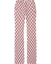 Isabel Marant | Red Mendel Printed Crepe Pants | Lyst