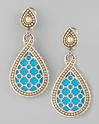 John Hardy | Blue Dot Turquoise Teardrop Earrings | Lyst