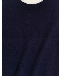 KENZO   Blue Cashmere Blockknit Sweater   Lyst