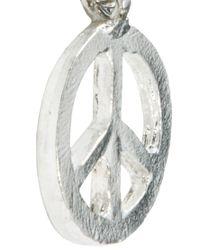 ASOS - Metallic Asos Peace Double Thong Necklace for Men - Lyst