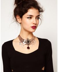 ASOS - Pink Premium Baroque Jewel Torque Necklace - Lyst