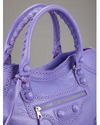 Balenciaga | Purple Brogue City Tote | Lyst