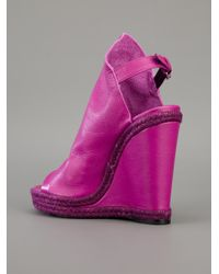 Balenciaga | Purple Wedge Boot | Lyst