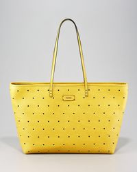 Fendi - Yellow Perforated Roll Bag - Lyst