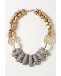 Anthropologie - Gray Metallic Cove Necklace - Lyst