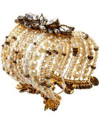 Erickson Beamon - Metallic Pearl Crystal Large Multistrand Bracelet - Lyst