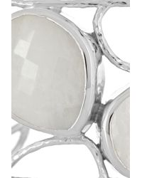Monica Vinader - Metallic Nugget Sterling Silver Moonstone Cuff - Lyst