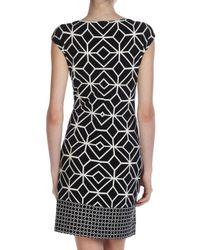 Donna Morgan   Black Geometricprint Shift Dress   Lyst