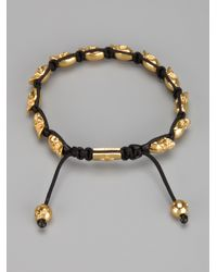 Nialaya - Metallic Skull Bracelet for Men - Lyst