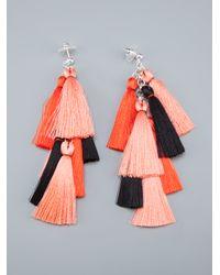 Jenny Jenny - Pink Multi Tassel Earrings - Lyst