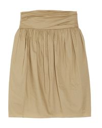 3.1 Phillip Lim - Brown Gathered Cotton Skirt - Lyst