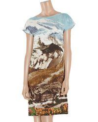 Carven - Multicolor Printed Silk-habotai Dress - Lyst