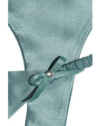 09f6393790a22 Jenny Packham Swarovski Crystalembellished Silksatin Thong in Blue ...