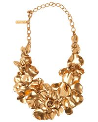 Oscar de la Renta | Pink Rose Petal Collar Necklace | Lyst