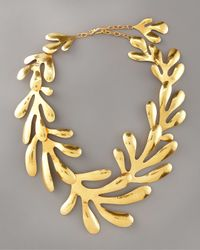 Herve Van Der Straeten | Metallic Coral Bib Necklace | Lyst