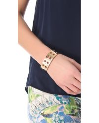 Kelly Wearstler - Metallic Double Row Perforated Cuff - Lyst
