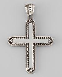 Konstantino | Metallic Sterling Silver Cross Pendant | Lyst