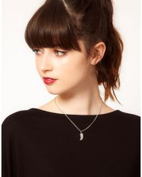 ASOS - Blue 3 Pack Cross Horn Stone Necklaces - Lyst
