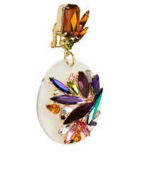 ASOS - Multicolor Jewel Perspex Disc Earrings - Lyst