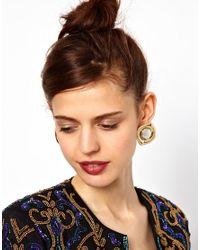 ASOS - Multicolor Saucer Stud Earrings - Lyst