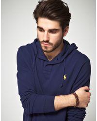 Polo Ralph Lauren - Brown Leather Plait Bracelet for Men - Lyst