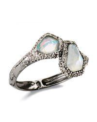 Alexis Bittar - Gray Hinged Quartz Bracelet - Lyst