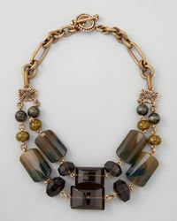 Stephen Dweck - Brown Doublestrand Green Agate Necklace - Lyst