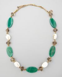 Stephen Dweck - Green Agate White Shell Necklace - Lyst