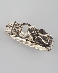 John Hardy - Black Naga Dragon Head Bracelet - Lyst