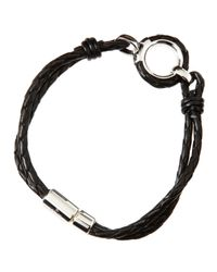 Tateossian - Black Circle Of Life Leather Bracelet for Men - Lyst