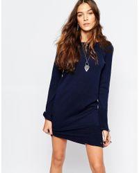Esprit   Blue Knitted Dress   Lyst