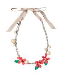 Weekend by Maxmara | Metallic Gisella Floral Beaded Necklace | Lyst