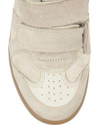 Isabel Marant | White Bekkett Suede and Leather Hightop Wedge Sneakers | Lyst