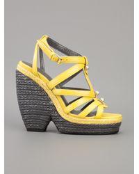 Balenciaga | Yellow Wedge Sandal | Lyst