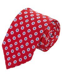 Drake's - Red Floral Medallion Tie for Men - Lyst