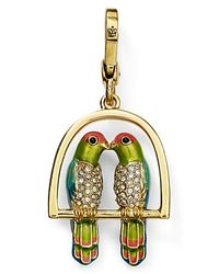Juicy Couture - Metallic Kissing Birds Charm - Lyst
