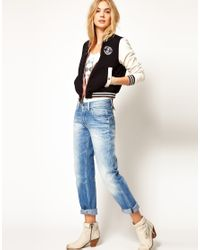Pepe Jeans - Black Reversible Varsity Jacket - Lyst