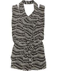 Thakoon Addition | Black Printed Silkcrepe Playsuit | Lyst