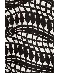 Thakoon Addition - Black Printed Silkcrepe Playsuit - Lyst
