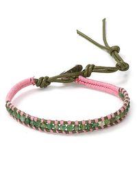 Chan Luu - Green Single Wrap Bracelet For Breast Cancer - Lyst