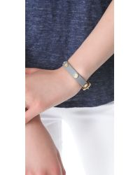 Marc By Marc Jacobs | Black Turnlock Charm Leather Bracelet | Lyst