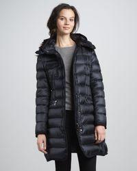 Moncler | Blue Hermine Darted-Waist Puffer Coat | Lyst