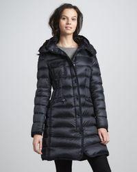 Moncler - Blue Hermine Darted-Waist Puffer Coat - Lyst