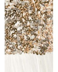 Rachel Gilbert - Metallic Aria Sequined Silk-chiffon Gown - Lyst