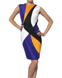ROKSANDA | Multicolor Silk Gazar Wool Crepe and Tweed Dress | Lyst