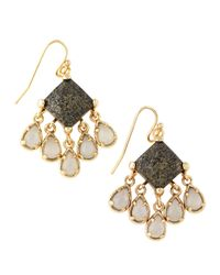 Kendra Scott | Brown Lotus Avon Earrings | Lyst
