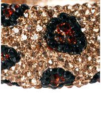 Kenneth Jay Lane - Multicolor Leopard Rhinestone Cuff - Lyst