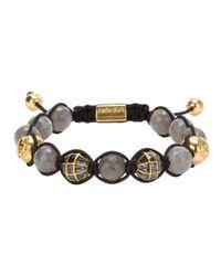 Nialaya | Metallic Beaded Bracelet for Men | Lyst