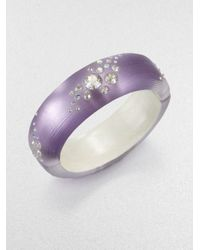 Alexis Bittar - Purple Jeweled Lucite Bangle Bracelet - Lyst